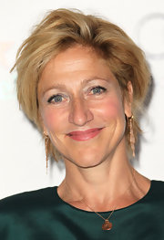 Edie Falco rocked an edgy layered razor cut at Showtime's 2011 Emmy nominees reception.