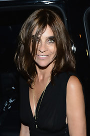 Carine Roitfeld attended the CR Magazine launch wearing a messy-chic 'do.
