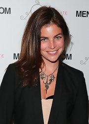 Julia Restoin-Roitfeld attended the Women of Fashion event wearing a lovely flower statement necklace.