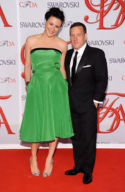 Garance Dore looked youthful and girly in a green strapless dress by Derek Lam during the CFDA Fashion Awards.