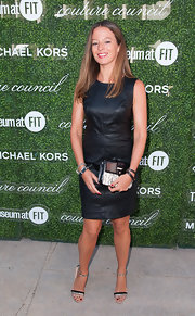 Michelle Smith was edgy-chic at the Couture Council Fashion Visionary Awards in a little black leather dress.