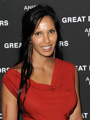 Padma Lakshmi wore her hair in a casual half-up style for the New York premiere of 'Great Directors.'