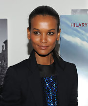 Liya Kebede was sleekly styled with this tight ponytail at the screening of 'Amelia.'