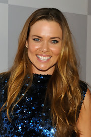 Natalie Coughlin wore her hair in casual waves at the NBCUniversal Golden Globes viewing party.