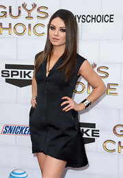 Mila Kunis wore a cool silver cuff by Elsa Peretti for Tiffany & Co. at the 2012 Guys Choice Awards.
