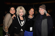 Cyndi Lauper wore a high contrast blazer at the One World Concert.