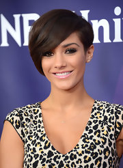 Frankie Sandford showed us an elegant way to wear emo bangs at the NBCUniversal 2013 Winter TCA Tour.