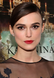 Keira Knightley donned bright red lipstick for the New York premiere of 'Anna Karenina.'