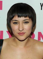 Zelda Williams attended the Nylon Magazine Young Hollywood issue celebration wearing a funky bowl cut.