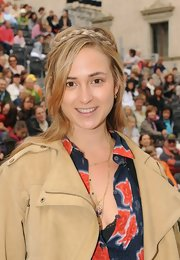 Elisabeth von Thurn und Taxis looked cute with her crown braid at the Thurn and Taxis castle festival.