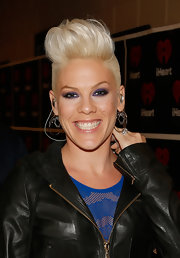 Pink stuck to her signature fauxhawk at the 2012 iHeartRadio Music Festival.