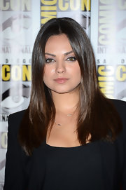 Mila Kunis showed off a glossy straight 'do at Comic-Con International 2012.