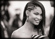 Chanel Iman looked uber cool with her half cornrows at the Met Gala.