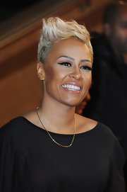 Emeli Sande was rocker-chic with her sculpted fauxhawk at the 2013 NRJ Music Awards.