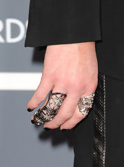 Cyndi Lauper adorned her fingers with various rings including a star ring at the Grammys.