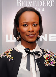 Shala Monroque opted for a no-frills center-parted bob when she attended the Whitney Art party.