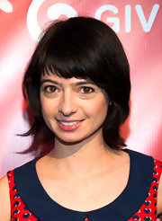 Kate Micucci went for a '70s vibe with this short cut with bangs at the Hilarity for Charity event.