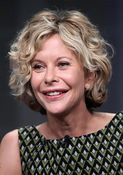 Meg Ryan looked adorable with her curled-out bob at the 2012 Summer TCA Tour.