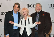 Cyndi Lauper wore a sleek blazer at the Tony Awards.