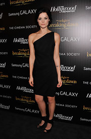 Jaimie Alexander strikes a pose in a one-shoulder LBD.