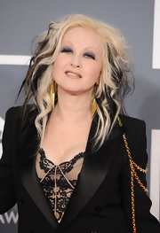 Cyndi Lauper donned her wild looking ombre hair at the Grammys.