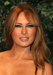 Melania Trump finished off her look with a smoky eye.