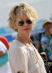 Meg Ryan was spotted at the 2011 New Orleans Jazz & Heritage Festival wearing her trademark curly bob.