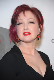 Cyndi Lauper had her pink inverted bob slightly curled for the Drama League Awards.