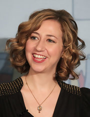 Kristen Schaal showed off stylish, bouncy curls at the 2011 Winter TCA Tour.