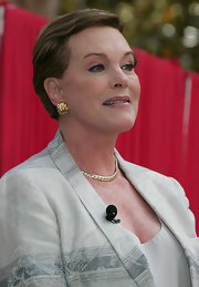 Julie Andrews opted for a simple brushed-back 'do when she attended the Los Angeles Times Festival of Books.