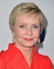 Florence Henderson styled her hair into a textured short 'do for the Hall of Fame Induction Gala.