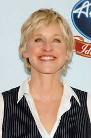 Ellen DeGeneres looked cool with her layered razor cut at the 'American Idol Gives Back' event.