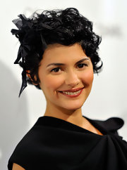 Audrey Tautou wore her hair in a short curly style at the premiere of 'Coco Before Chanel.'