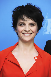 Juliette Binoche channeled her inner rockstar with this messy cut at the Berlinale photocall for 'Camille Claudel 1915.'