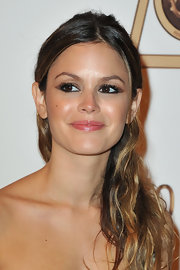 Rachel Bilson went for a rocker edge with this messy half-up 'do at the Roberto Cavalli party.