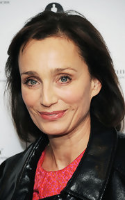 Kristin Scott Thomas sported a casual bob at the Academy of Motion Picture Arts and Sciences tribute to Pedro Almodovar.