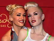 Gwen Stefani wore an edgy braided updo to the unveiling of her wax figure (which also happened to be sporting an OTT hairstyle).