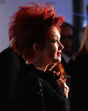 Cyndi Lauper attended the 2013 Tony Awards wearing a spiked 'do.
