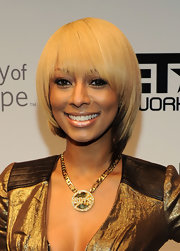 Keri Hilson wore her hair in a dip-dyed bowl cut at the Roast of Stephen Hill.