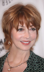 Sharon Lawrence wore her hair in a stylish razor cut at the PaleyFest Presents 'Curb Your Enthusiasm' event.