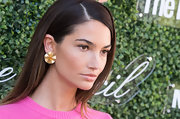 Lily Aldridge added some sparkle to her look with a pair of large gold studs when she attended the Couture Council Fashion Visionary Awards.
