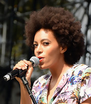 Solange Knowles wore her natural curls at the 2013 Budweiser Made in America Festival.