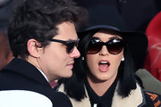 Katy Perry accessorized with classic cateye sunnies at the presidential inauguration.
