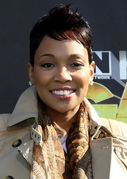 Monica styled her hair into a fauxhawk for the Cartoon Network's Hall of Game Awards.