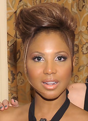 Toni Braxton looked punky wearing this fauxhawk at the New York gala benefiting the Steve Harvey Foundation.
