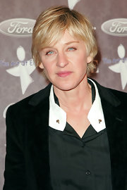 Ellen DeGeneres opted for a casual razor cut when she attended the Heaven: Celebrating 10 Years benefit.