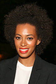 Solange Knowles looked cool with her natural curls at the Diesel + Edun Studio Africa event.
