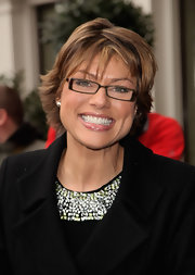Kate Silverton attended the 2009 TRIC Awards wearing a chic layered razor cut.
