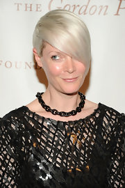 Kate Lanphear went for edgy styling with a black chain necklace during the Gordon Parks Foundation Awards.