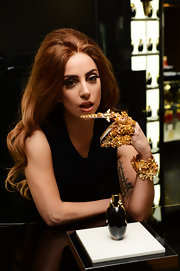 Lady Gaga flaunted a handful of statement-making Mordekai by Ken Borochov claw rings during her fragrance launch.